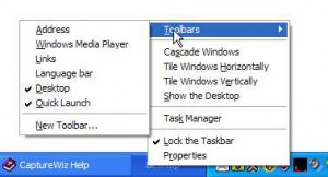 Desktop toolbar