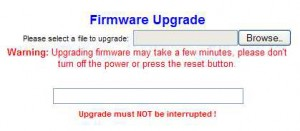 Upgrade router firmware