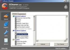 CCleaner freeware