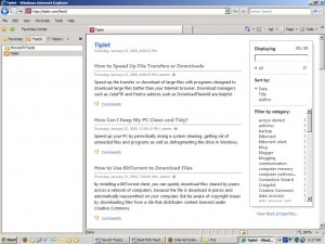 Internet Explorer 7 RSS reader