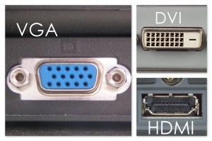 LCD monitor connections
