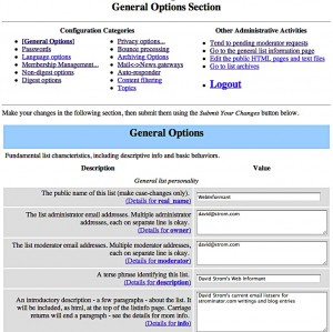 Mailman General Options