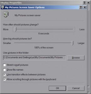 Custom Windows screensaver
