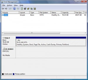 Vista Disk Management