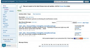 Yahoo Groups Main Menu